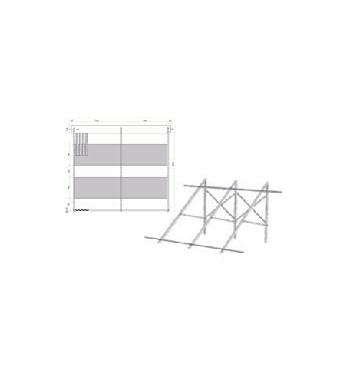 Suport fixare pentru acoperis plan pentru colector solar cu 20 tuburi vidate Heat Pipe 1800