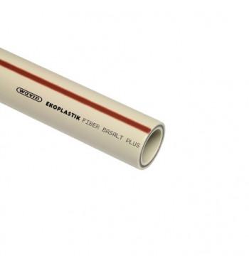 Teava FIBER BASALT PLUS, gri, cu fibra de bazalt 40x5,5x4000 mm