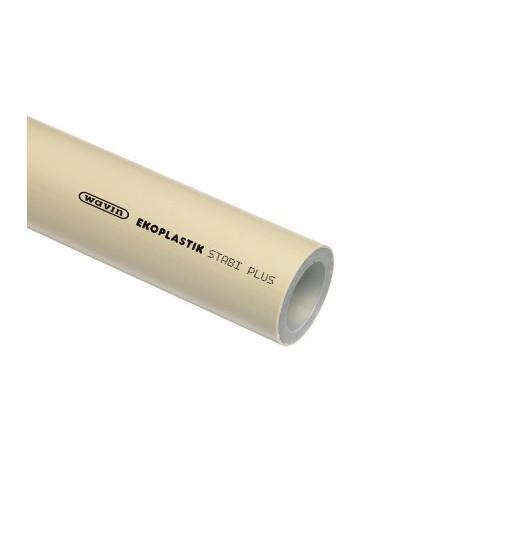 Teava PPR gri cu insertie aluminiu STABI PLUS 20X2.8X4000 mm, PN20