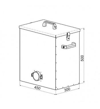 Cenusar  68 L. pentru cazan Atmos D15P, D20P, D30P, D31P, D40P, D50P S0544