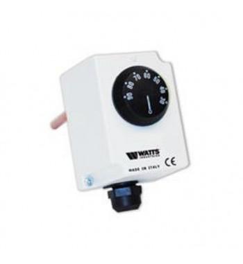 """Termostat imersie TRE100-N, 3 contacte, 16(5)A 250V - 10(1)A 380V, domeniu reglaj 30 - 90°C, diferenţial 8±3°C, racord 1/2"""", lun"""