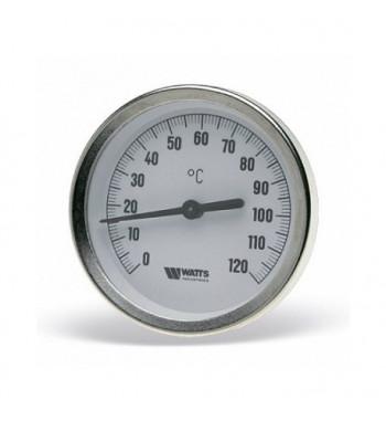 "Termometru TB-63 Watts domeniu masura 0-120°C, racord axial 1/2"""