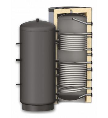 Rezervor de acumulare izolat Woody PR2, 2 serpentine 1500 L