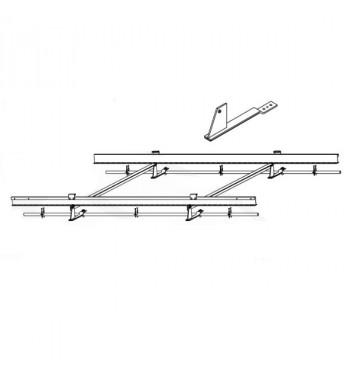 Extensie fixare pentru un colector pentru acoperis inclinat cu tigle ceramice, inaltime variabila pentru colectoarele TS 300
