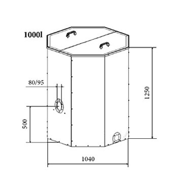 Rezervor peleti Atmos 1000 L. - 1