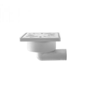 Sifon pardoseala, 100 X 100, cu iesire laterala DN 32, cu gratar inox