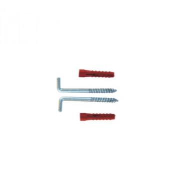 Set fixare boiler cu diblu tip L 8x90