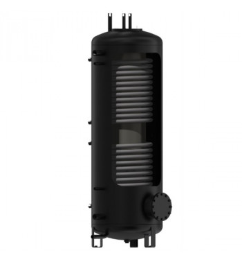 Rezervor de acumulare DZD izolat cu flansa 750L, 2 serpentine si boiler ACM incorporat 100 L NADO V3