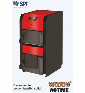 Cazan  Woody Active 30 kW cu functionare pe combustibil solid